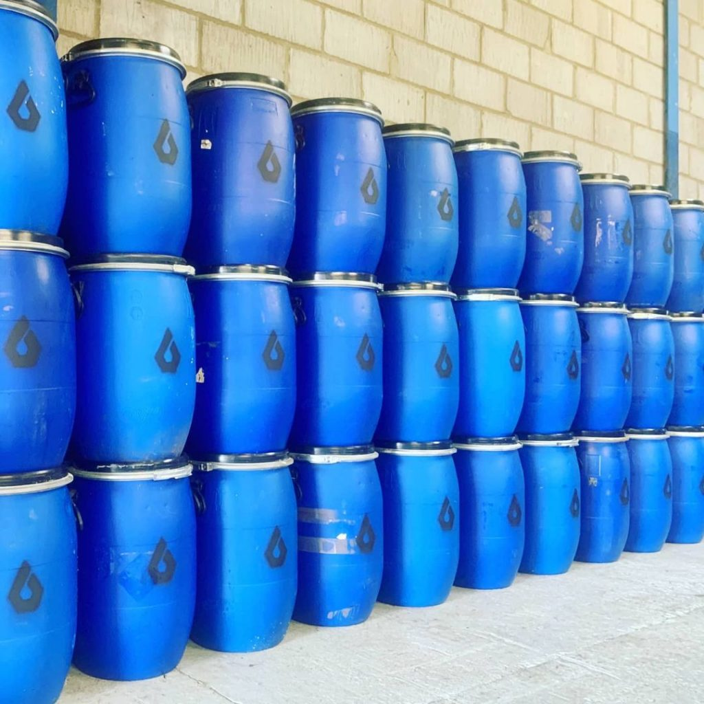 Barrels are ready for action ethicoil group fresh oil cooking waste oil collection and delivery suffolk eco friendly business