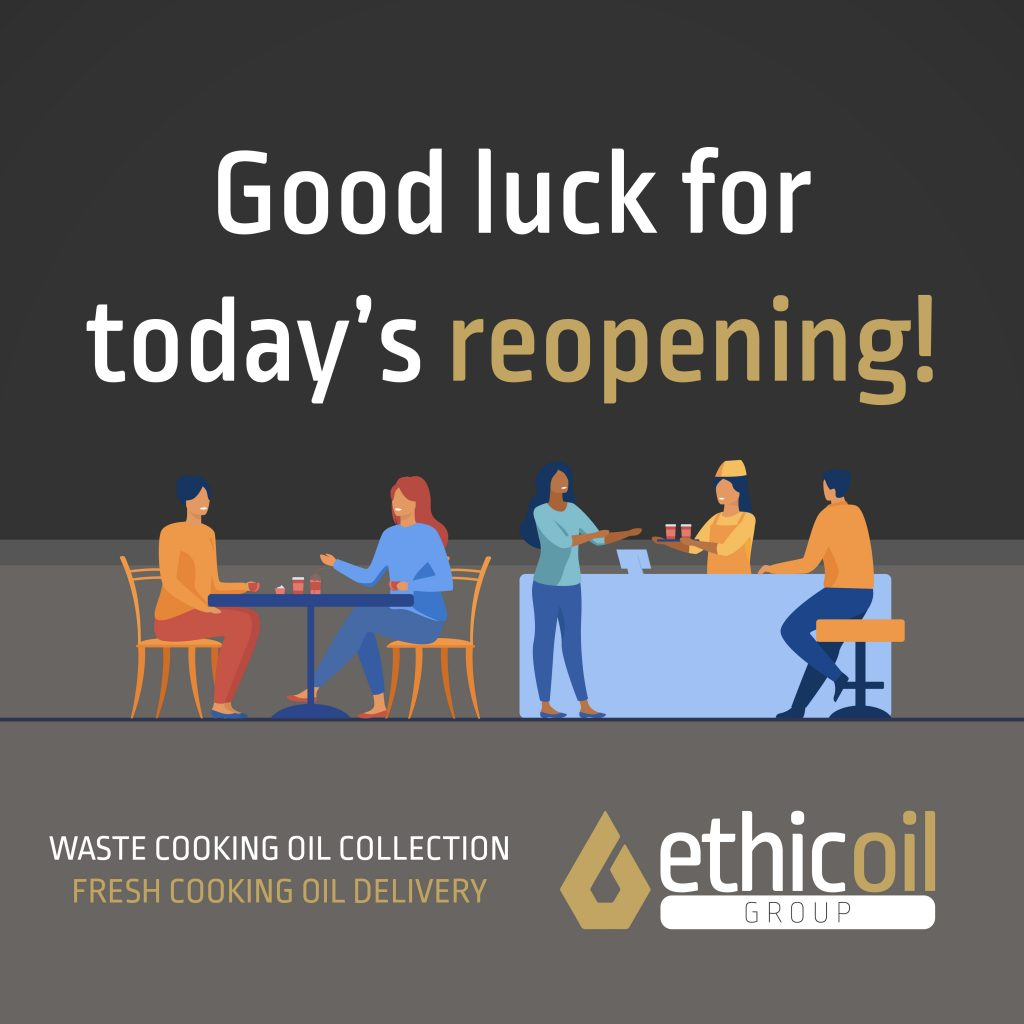Good Luck with todays reopening ethicoil group fresh oil cooking waste oil collection and delivery suffolk eco friendly busines