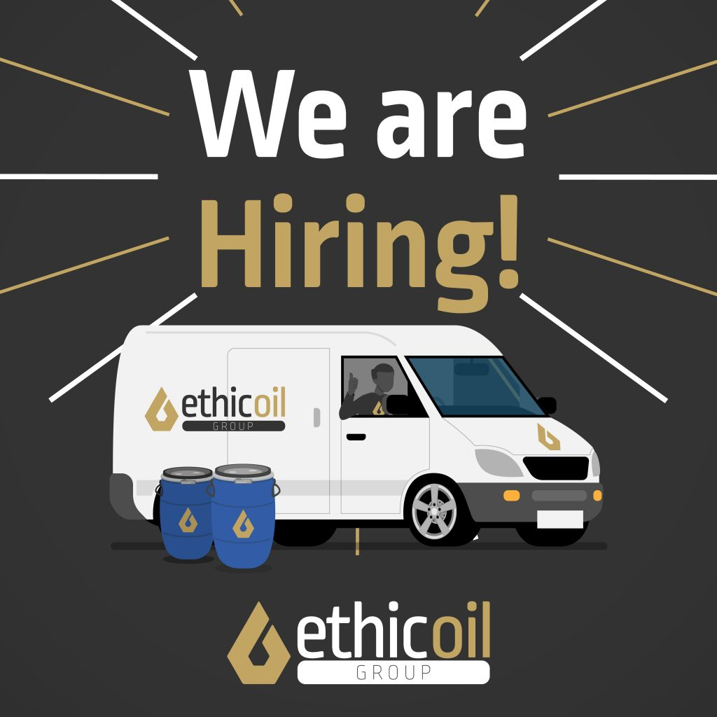 We are hiring! ethicoil group fresh oil cooking waste oil collection and delivery suffolk eco friendly business